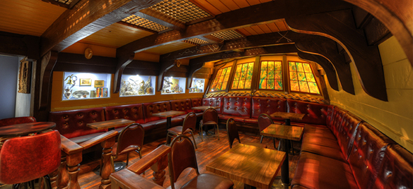 Benbow Room U2013 Now This Seattle Bar Has Ambiance Built Into Its Bonesu2013the  Main Room Is The Interior Of A Ship! And If You Look Down, Youu0027ll See Fish  Swimming ...