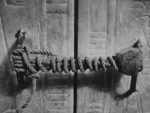 The unbroken seal of King Tut's Tomb