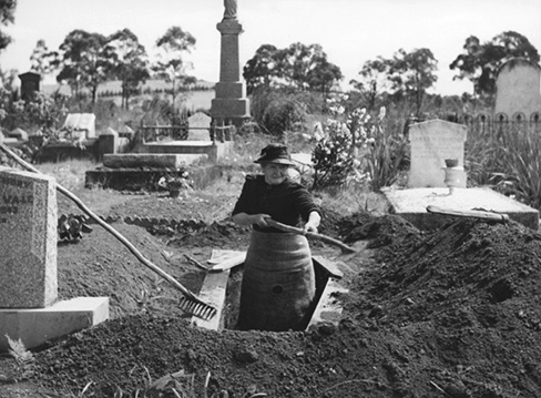 Grave digging as hobby