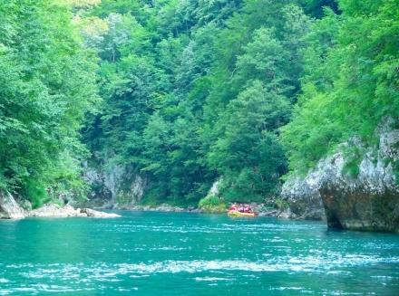 Rafting down the Tara