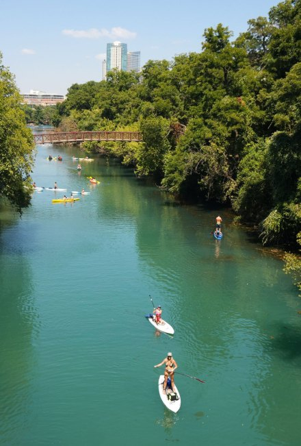 SUP in Austin. Photo by Katja Presnal.