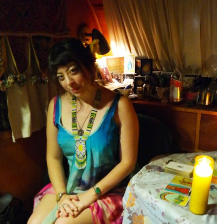 Unique Austin experience: Tarot card reading by Sister Temperance. Photo by Katja Presnal.