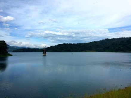 The quiet stillness of Lake Arenal in the Arenal region of Costa Rica.
