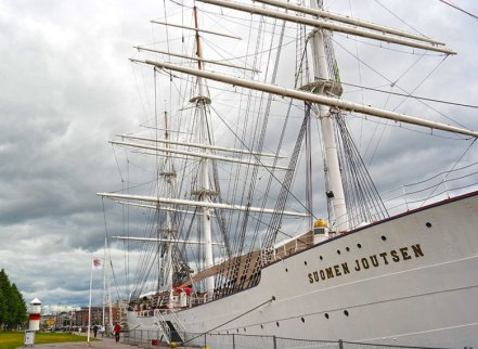 Suomen Joutsen ship in Turku, Finland. Photo by Katja Presnal.