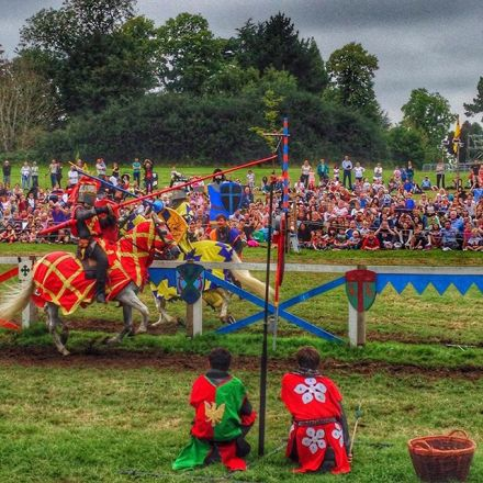 Step back in history with a jousting tournament hosted by the King Henry VIII and his queen in Hever castle.