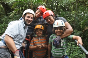 A family that ziplines together, never gets bored together. Photo by Girl Gone Travel.