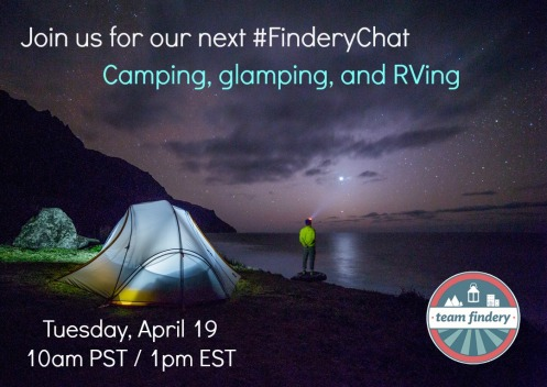 Chat about camping and RVing with Findery